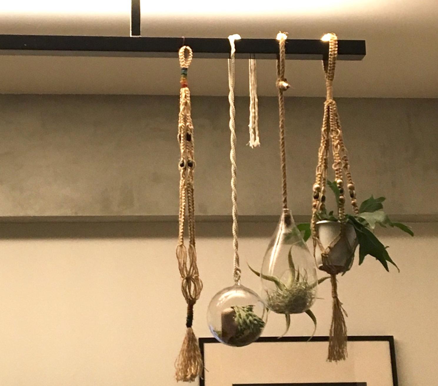 スタッフ自宅リノベ日記□DIY編-6.マクラメハンガーを作ってみた