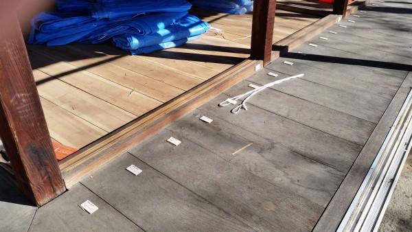 床板、天井板、柱に至るまで、 全てに番号をふっていきます。