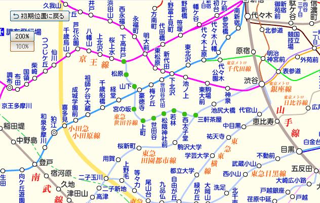 路線 世田谷 図 線