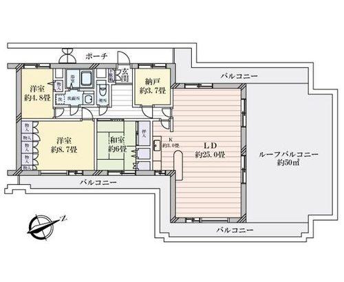 【物件紹介】部屋とバルコニーで200平米なの@本八幡